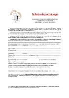 Bulletin de parrainage 2020